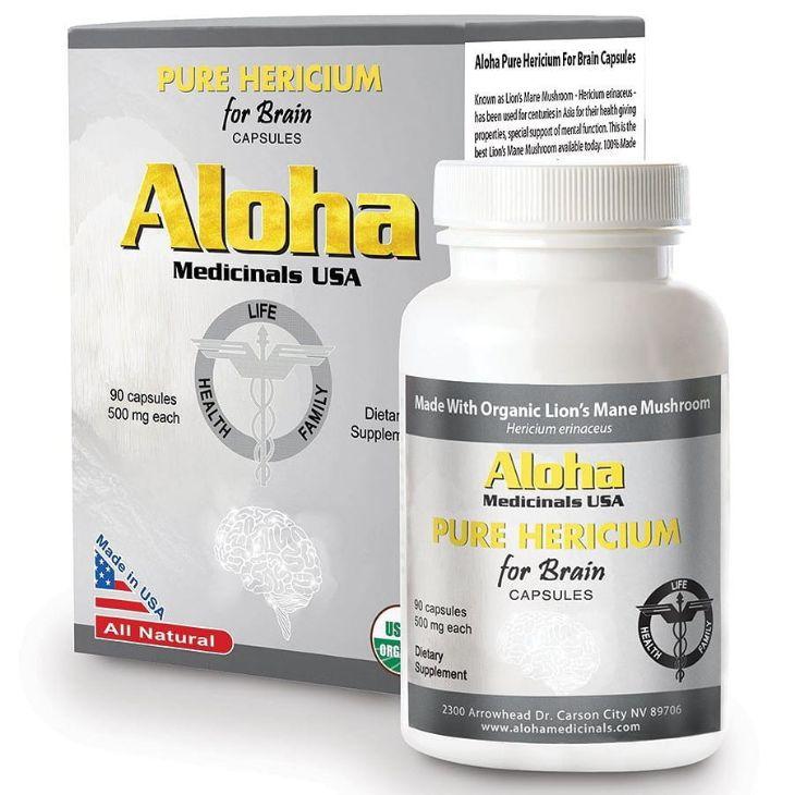 Thuốc Aloha for Brain có thành phần chính là nấm đầu khỉ
