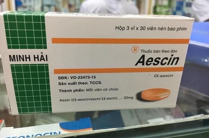 Aescin Minh Hải thuộc nhóm thuốc điều trị tĩnh mạch