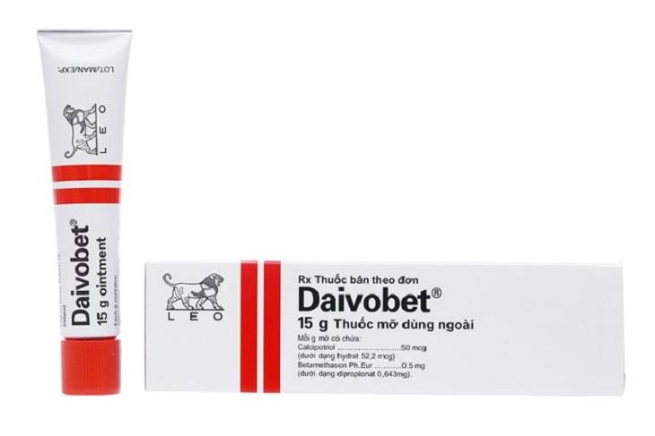 Kem bôi Daivobet giúp điều trị vảy phấn hồng