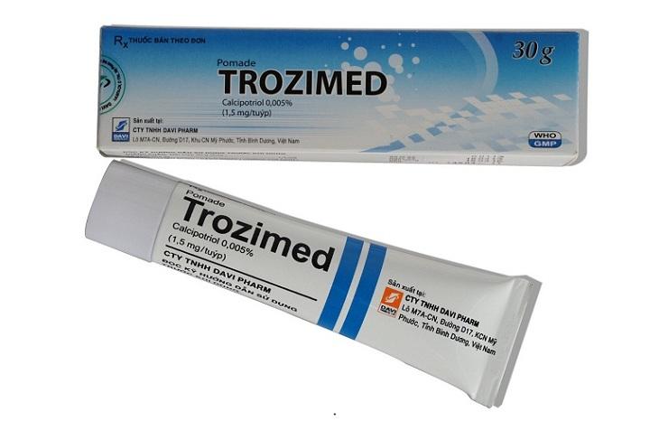 Điều trị vảy nến bằng kem bôi Trozimed