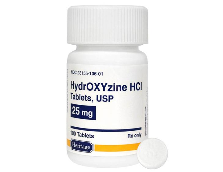 Hydroxyzine được dùng khi được bác sĩ kê đơn