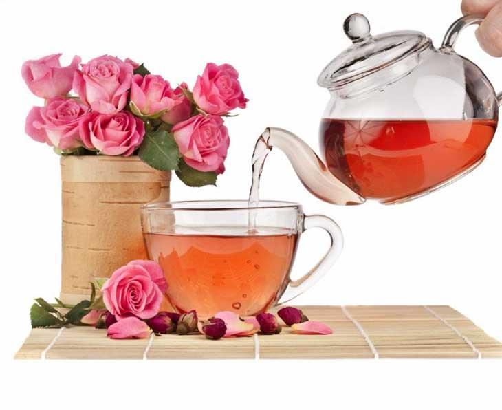 Hình ảnh trà hoa hồng nguyên bông