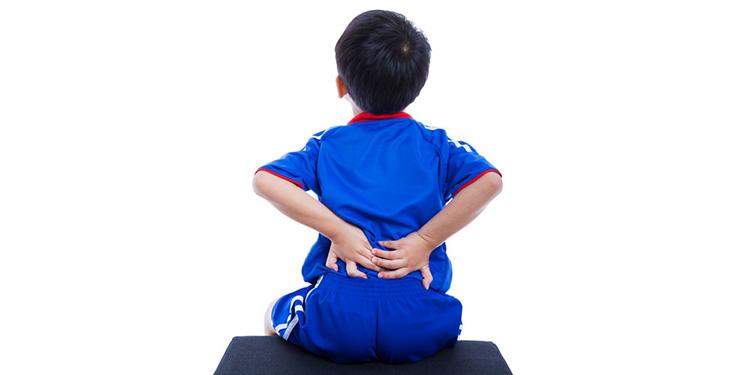 Trẻ em cũng có nguy cơ bị thoát vị đĩa đệm.