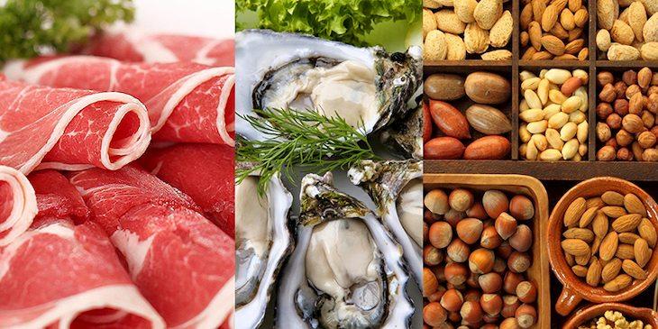 Viêm xoang trán nên bổ sung thực phẩm giàu kẽm