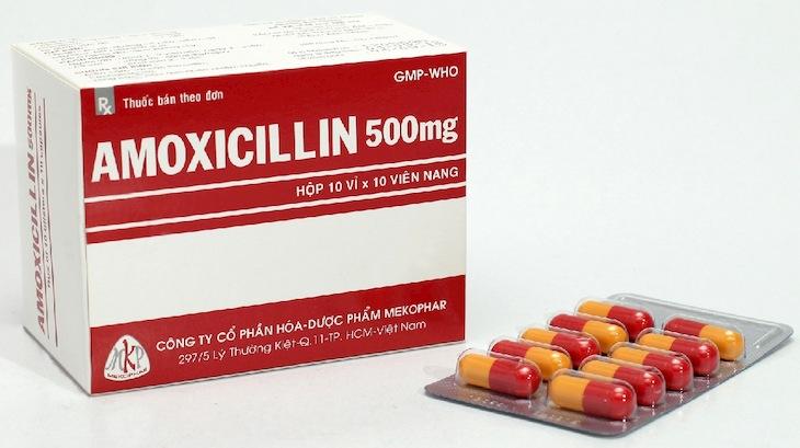 Thuốc kháng sinh Amoxicillin 500mg