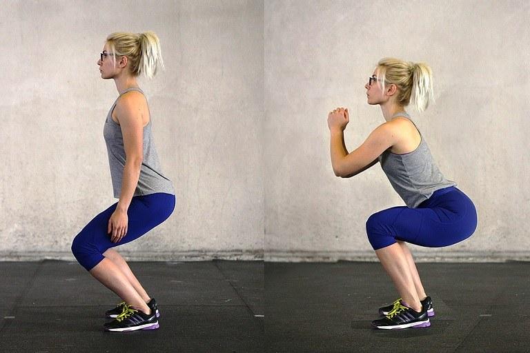 Squat là bài tập gym phù hợp với người bệnh gai cột sống