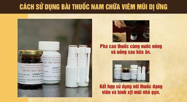 Cách sử dụng bài thuốc thảo dược chữa viêm mũi dị ứng Đỗ Minh Đường