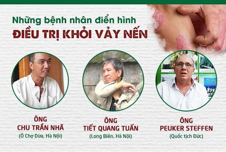 Những bệnh nhân điển hình điều trị khỏi bệnh vảy nến tại Trung tâm Thuốc dân tộc