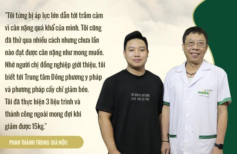 Phan Thành Trung (Hà Nội): Giảm từ 90kg (3/2019) -> 75kg (7/2019), cân nặng hiện tại 58-60kg.