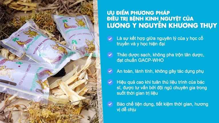 Ưu điểm trong bài thuốc chữa bệnh kinh nguyệt của lương y Nguyễn Khương Thụy