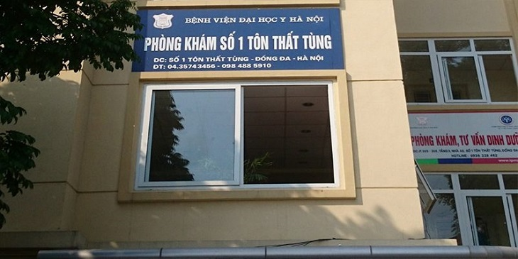 Phòng khám số 1 Tôn Thất Tùng thuộc Đại học Y Hà Nội với đội ngũ y bác sĩ giỏi, các chuyên gia đầu ngành