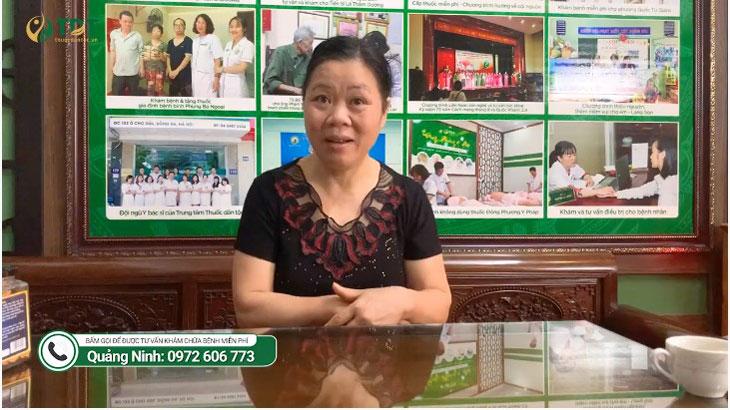 Cô Hoàng Thị Lý may mắn biết tới liệu pháp đặc trị mất ngủ tại Trung tâm Thuốc dân tộc