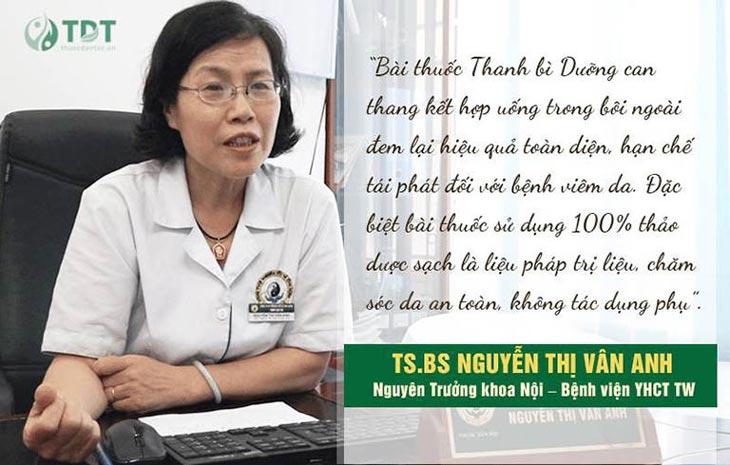 Tiến sĩ Vân Anh đánh giá về Thanh bì dưỡng can thang