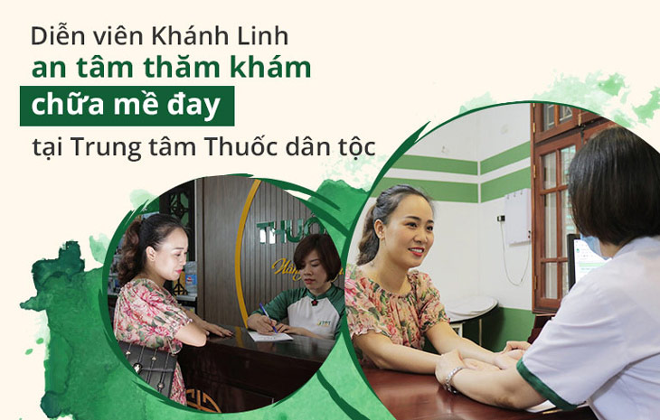 Diễn viên Khánh Linh an tâm thăm khám chữa bệnh tại Trung tâm Thuốc dân tộc