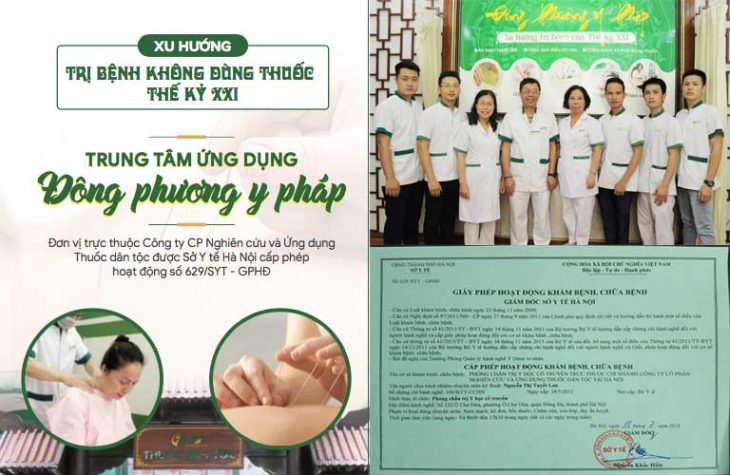 Trung tâm Ứng dụng Đông phương y pháp được cấp phép hoạt động bởi Sở Y Tế Hà Nội