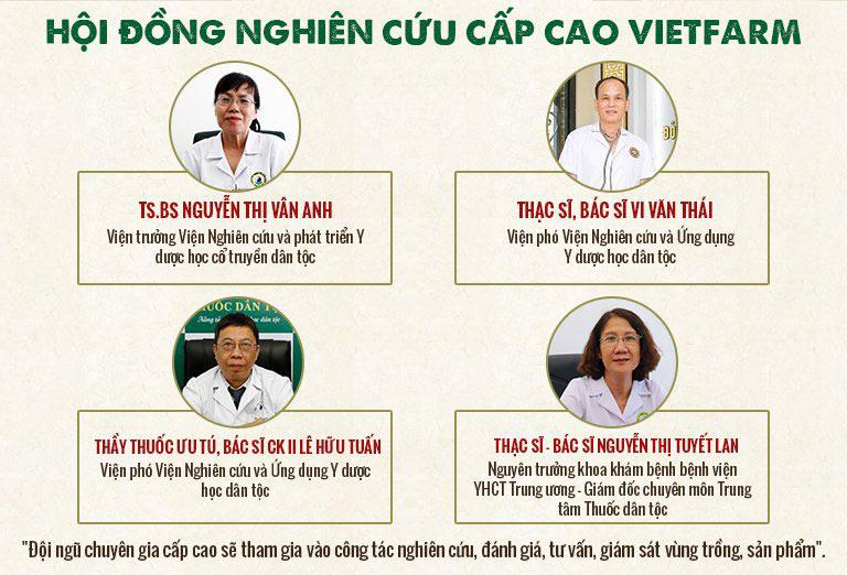 Hội đồng chuyên môn cấp cao trực tiếp kiểm duyệt chất lượng của đông trùng hạ thảo Vietfarm