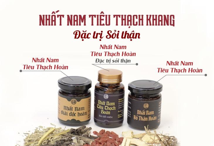 Bài thuốc Nhất Nam Tiêu Thạch Khang được chia thành 3 bài thuốc nhỏ