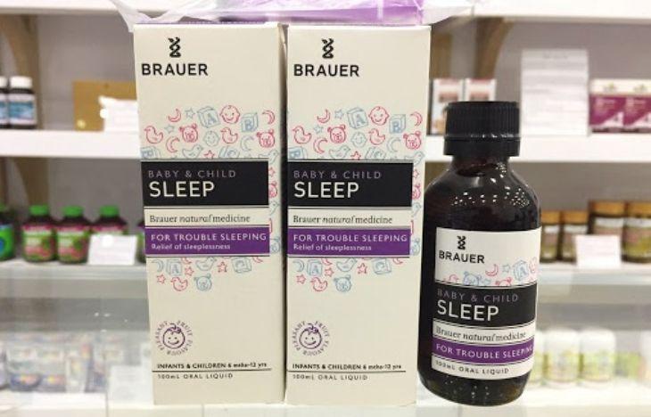 Thuốc an thần cho bé ngủ ngon Brauer Sleep có xuất từ Úc