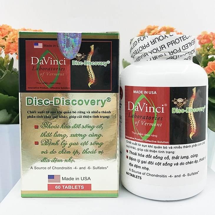 Davinci Disiss Discovery là thuốc chữa thoái hóa cột sống lưng nổi tiếng của Mỹ