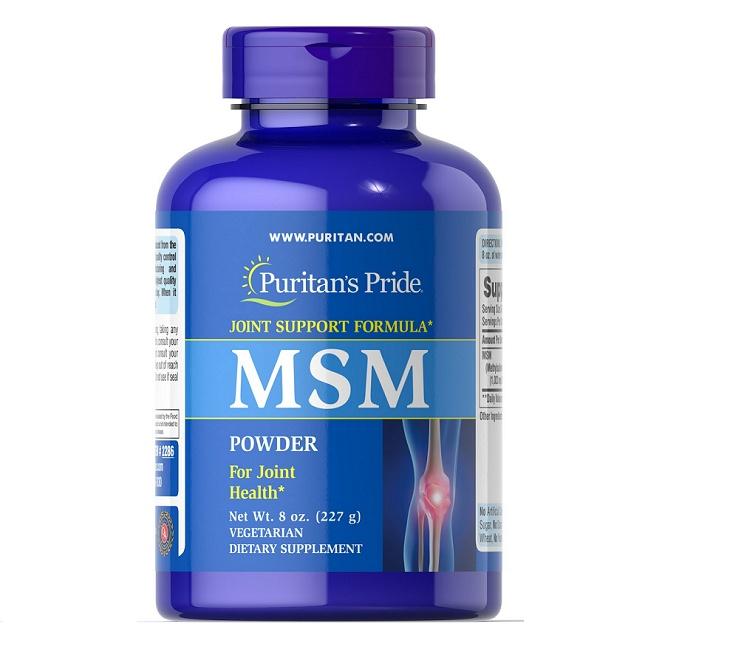 Puritan's Pride MSM được bào chế từ các thành phần dược chất chứa nhiều vi lượng