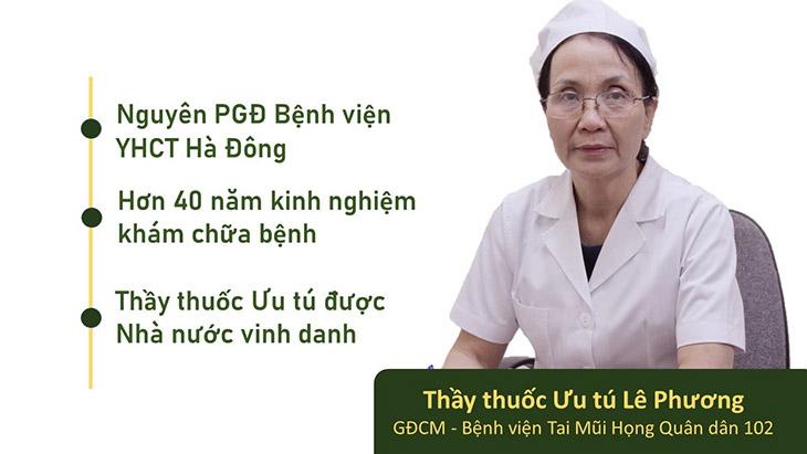 Bác sĩ Lê Phương - Giám đốc chuyên môn bệnh viện đa khoa YHCT Quân dân 102