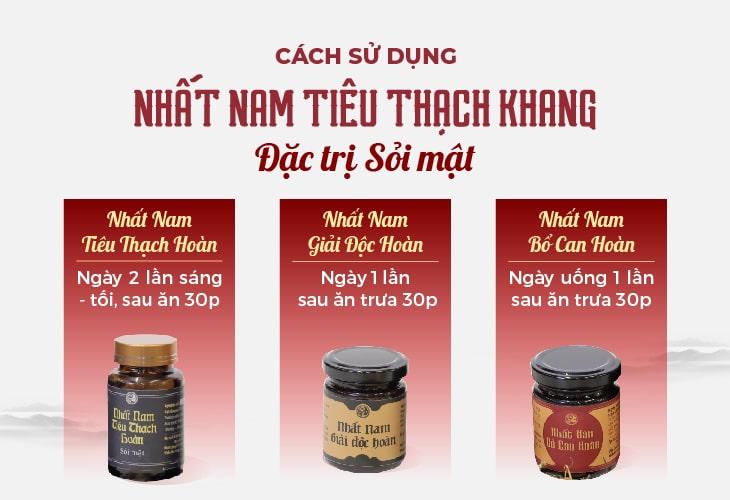Cách sử dụng bài thuốc Nhất Nam Tiêu Thạch Khang trị sỏi mật