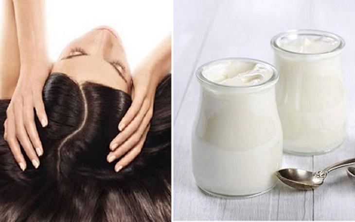 Dùng sữa chua trị vảy nến da đầu