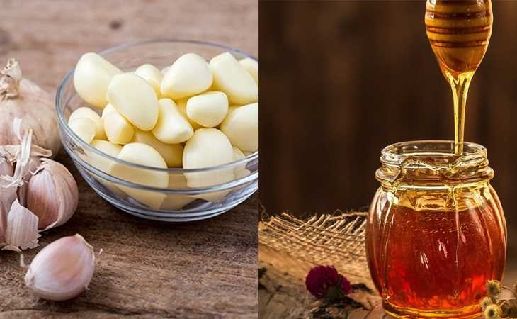 Hỗn hợp tỏi ngâm mật ong tác dụng kháng viêm, kháng khuẩn, từ đó giúp giảm các cơn đau đầu nhanh chóng