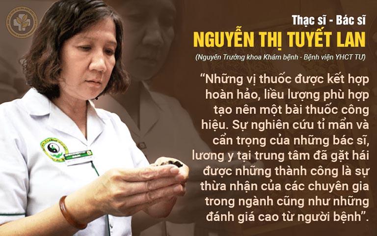 Bác sĩ Nguyễn Thị Tuyết Lan nhận xét về bài thuốc