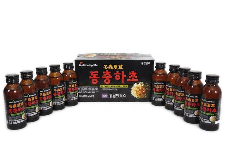 Đông trùng khô Hàn được sử dụng để bào chế nhiều loại thực phẩm chức năng