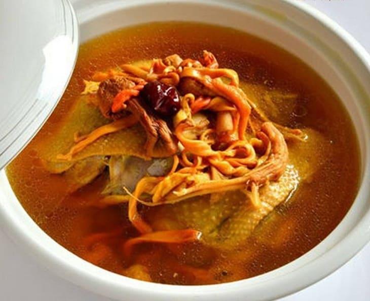 Đông trùng hầm canh món ăn thơm ngon bổ dưỡng giúp phục hồi sức khỏe và bồi bổ cơ thể