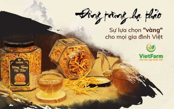 Sản phẩm đông trùng được Vietfarm sản xuất và bán ra thị trường
