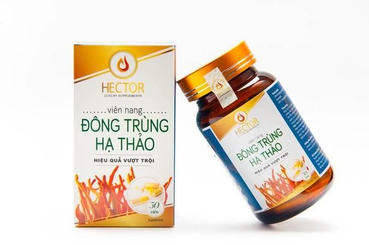 Sản phẩm đông trùng hạ thảo Hector đang được bán trên thị trường