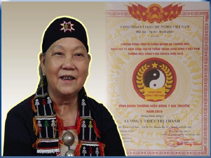 Lương y Triệu Thị Thanh sinh năm 1949 tại thôn Hợp Sơn, xã Ba Vì, huyện Ba Vì, TP. Hà Nội