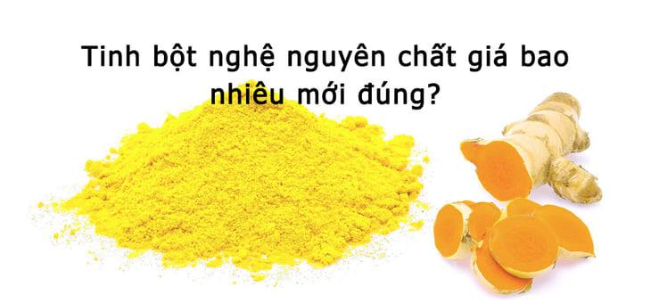 Tinh bột nghệ vàng nhiều dưỡng chất và rất tốt cho sức khỏe