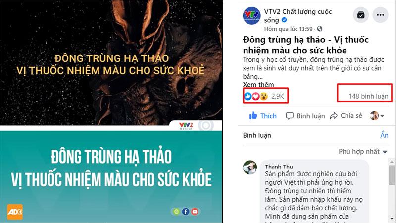 Từ khi đăng tải, rất nhiều phản hồi, bình luận tích cực về ĐTHT Vietfarm trên Fanpage VTV2 Chất lượng cuộc sống
