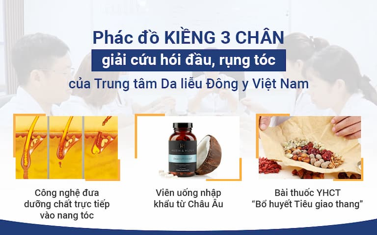 Giải pháp điều trị rụng tóc an toàn, hiệu quả của Trung tâm Da liễu Đông y Việt Nam