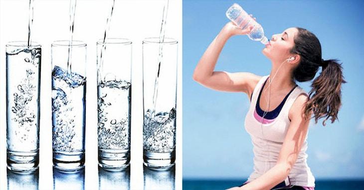 Uống đủ nước mỗi ngày là cách giảm mỡ bụng đơn giản và rất hiệu quả