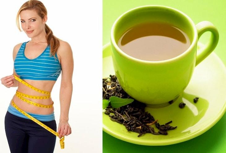 Trà xanh vừa có tác dụng chống lão hóa vừa giúp giảm mỡ bụng rất tốt