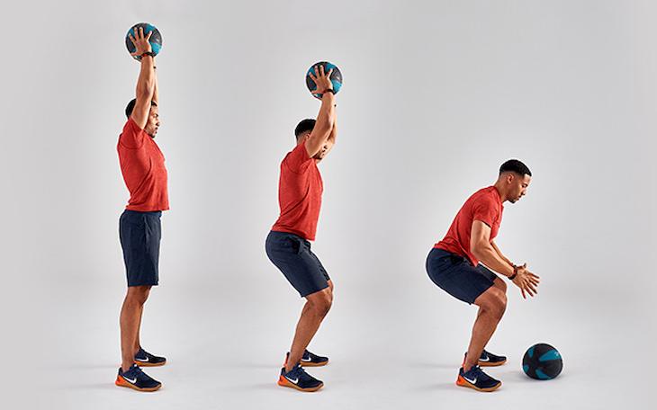Sử dụng sức nặng từ bóng để tăng tác dụng trong các bài gym
