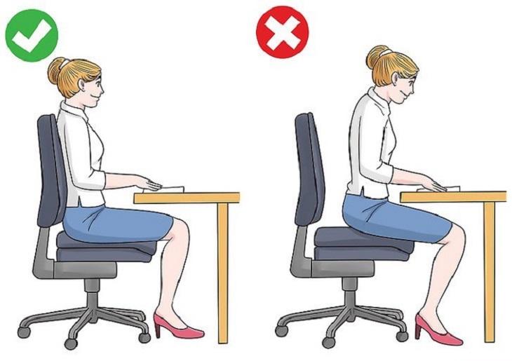 Hoạt động sai tư thế rất dễ gây ra căng cơ vùng cổ