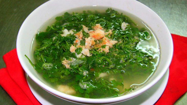 Bổ sung dinh dưỡng với món canh cải xoong nấu tôm