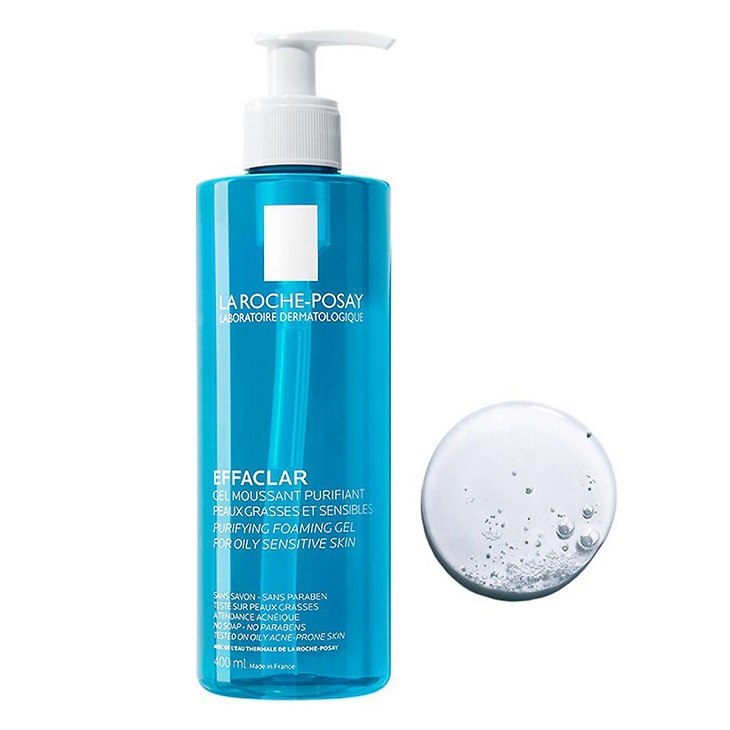 Sữa rửa mặt cho viêm da tiết bã La roche-Posay Effaclar Gel