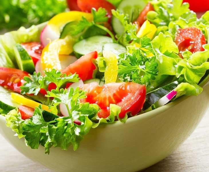 Rau củ quả có chứa nhiều chất xơ rất tốt cho hệ tiêu hóa