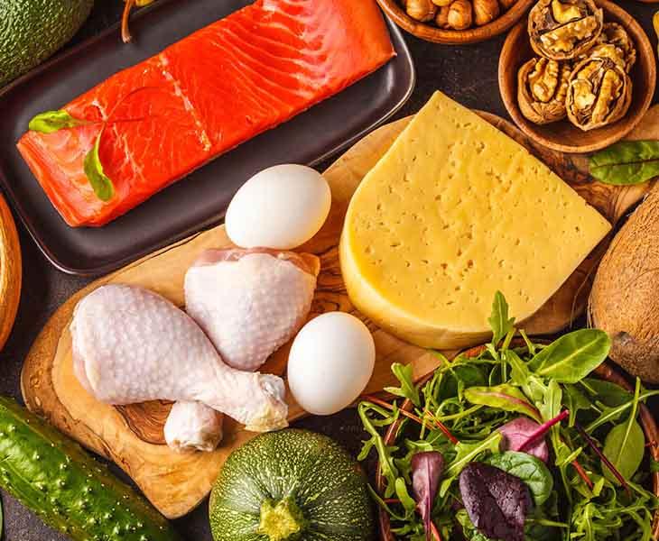 Thực đơn giảm cân KETO có thể sử dụng thức ăn chứa protein