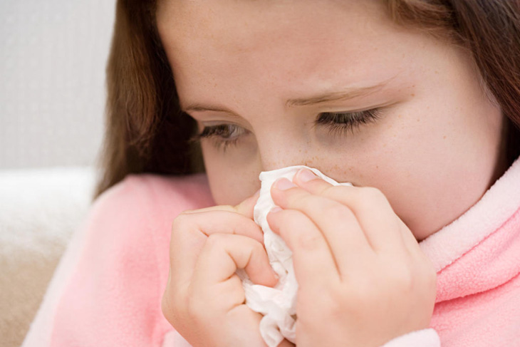 Trẻ liên tục bị chảy nước mũi