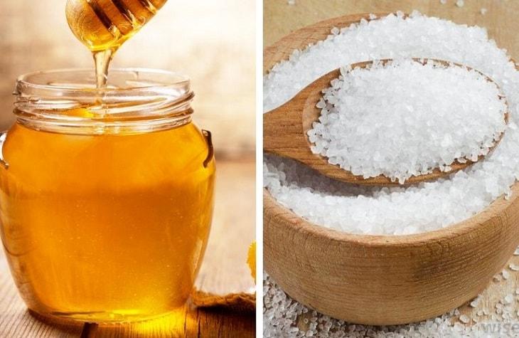 Cách trị viêm da tiết bã bằng mật ong và muối tinh