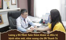 DV Thanh Tú đã lựa chọn điều trị bằng bài thuốc chữa viêm mũi dị ứng viêm xoang Đỗ Minh Đường