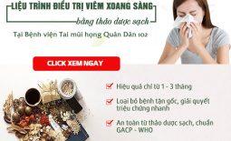 THỰC HƯ hiệu quả điều trị viêm xoang sàng bằng liệu trình thảo dược của Bệnh viện Tai mũi họng Quân Dân 102