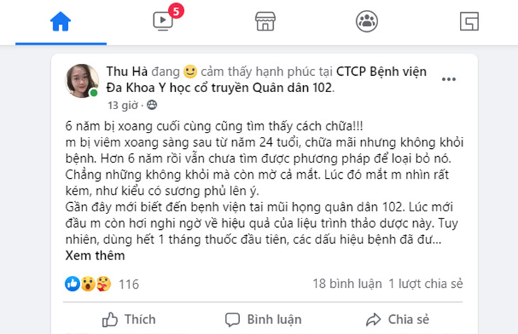 Ảnh bài đăng của chị Vũ Thị Thu Hà (nguồn: FB Thu Hà)